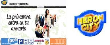 Nueva web Heron City Barcelona - centro comercial outlet