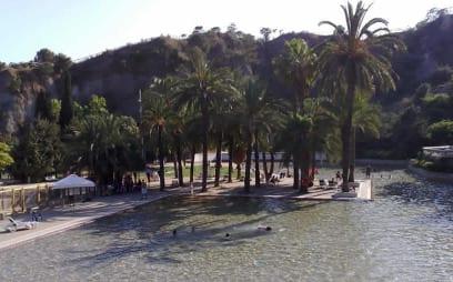 Lago-piscina del Parc de la Creueta del Coll