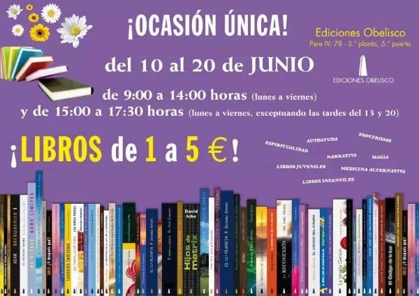 Mercadillo Ediciones Obelisco - Librerías outlet y de segunda mano en Barcelona