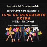 Barcelona Outlet - cupón descuento -10