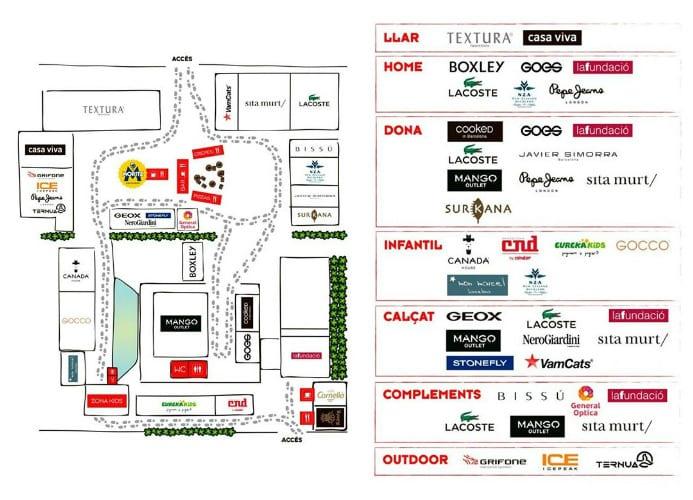 Mapa y marcas - Shopp Out Girona