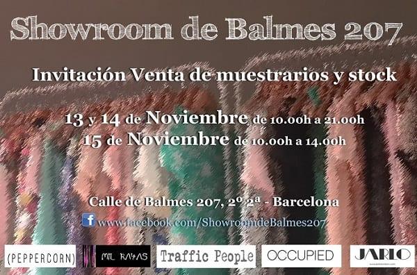 Showroom de Balmes 207 - Noviembre 2014