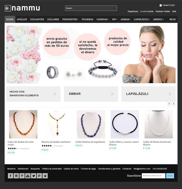 Tienda online joyería Swarovski Elements - Nammu