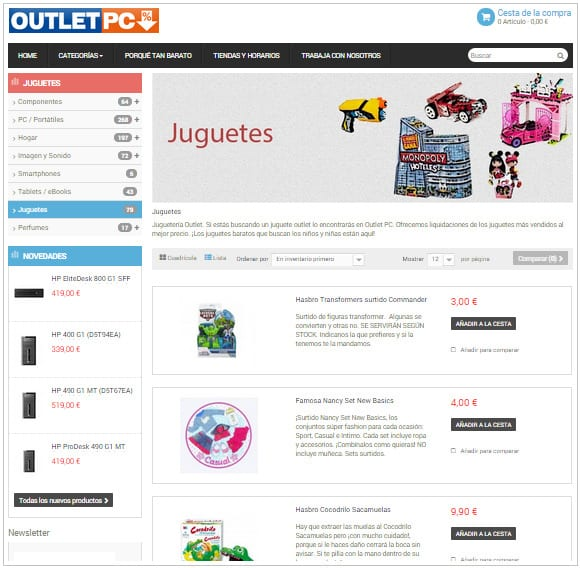 Outlet PC - Especial Juguetes Barcelona y online - 2014