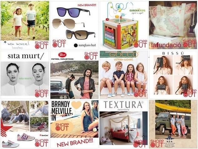 Algunas marcas ShoppOut en Girona Mayo 2015