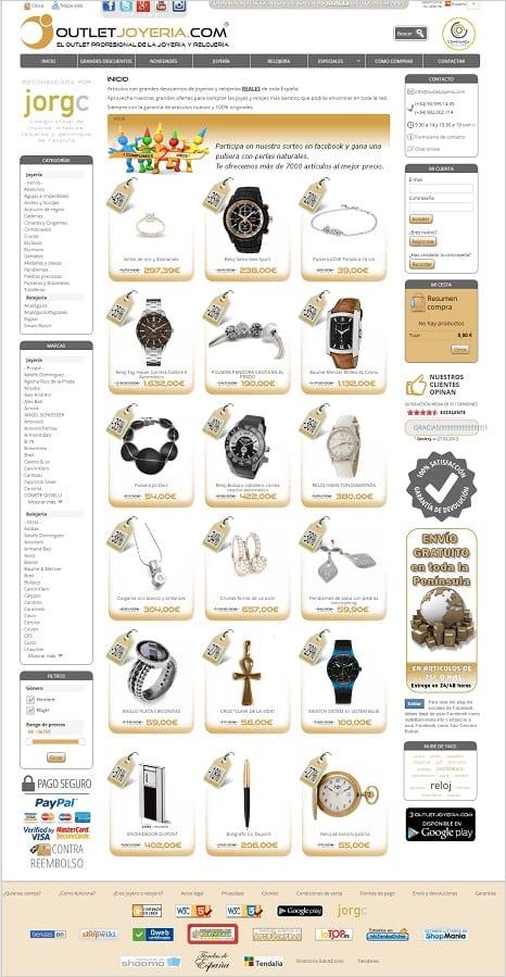 Comprar Joyas y Relojes Baratos Ofertas Descuentos Outlet Joyeria