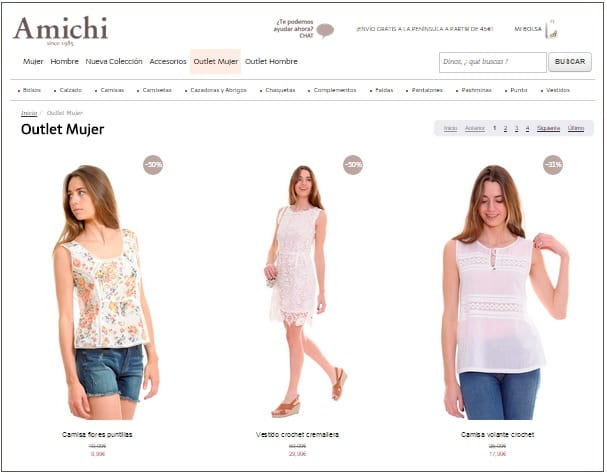 Tienda online AMICHI outlet mujer