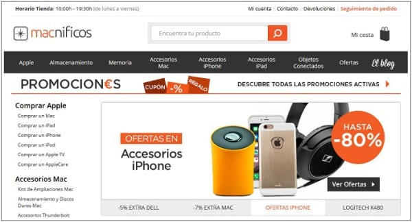 Macnificos outlet Apple iPhone iPad Mac Barcelona