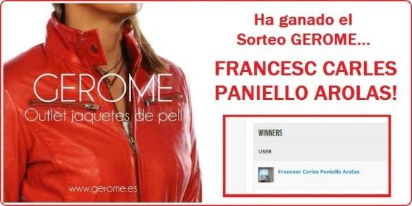 Ganador sorteo chaqueta piel | Especial Gerome Outlet (Sabadell)
