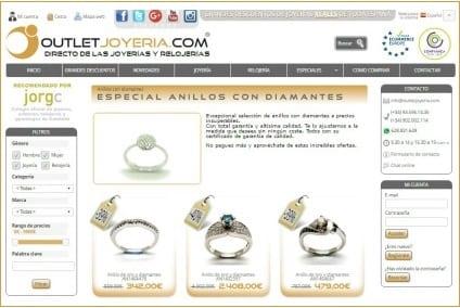 outletjoyeria - outlet anillos diamantes - marzo 2017