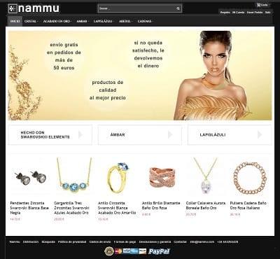 Nammu - Joyas Chapadas en Oro - Joyeria online Swarovski Elements
