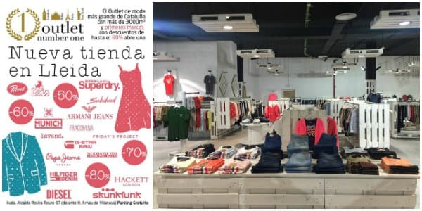 Nueva tienda Outlet Number One Lleida - Mayo 2016