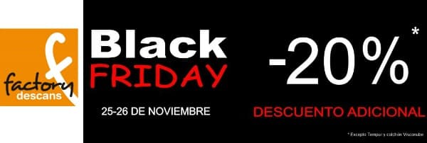 Factory Descans - Black Friday 2016