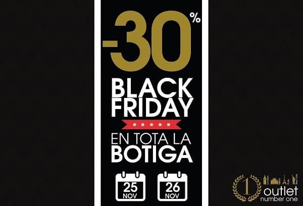 Outlet Number One Barcelona Girona Lleida - Black Friday 2016