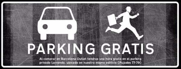 Parking Gratis - Barcelona Outlet - Noviembre 2016 - NOB 287