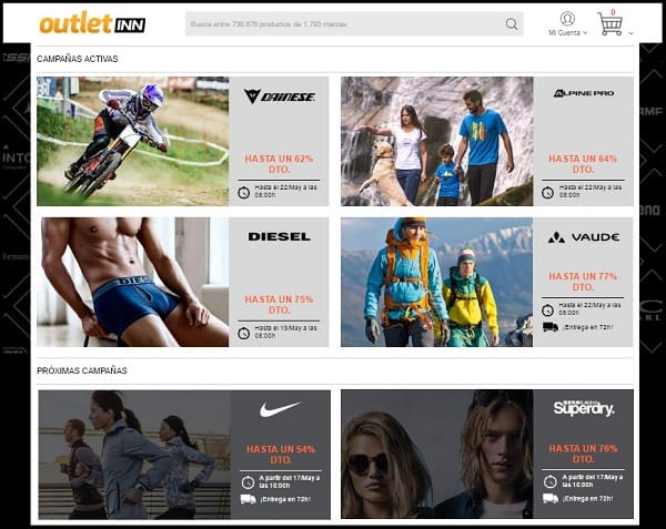 Outlet INN - tienda deporte online - Mayo 2017 - NOB 288
