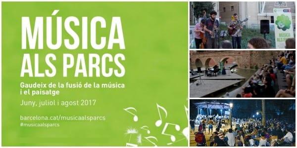 Cicle Música als Parcs - Ocio Verano en Barcelona 2017