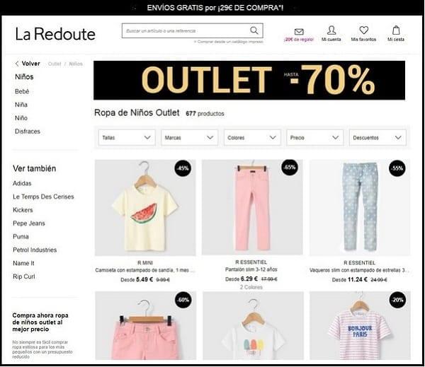 La Redoute - ropa infantil y premamá - Julio 2017