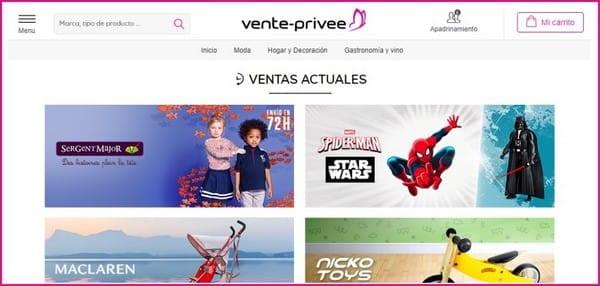Vente Privee - Listado outlet ropa infantil Barcelona - Julio 2017