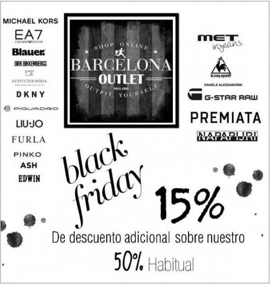 Barcelona Outlet - Especial Black Friday 2017