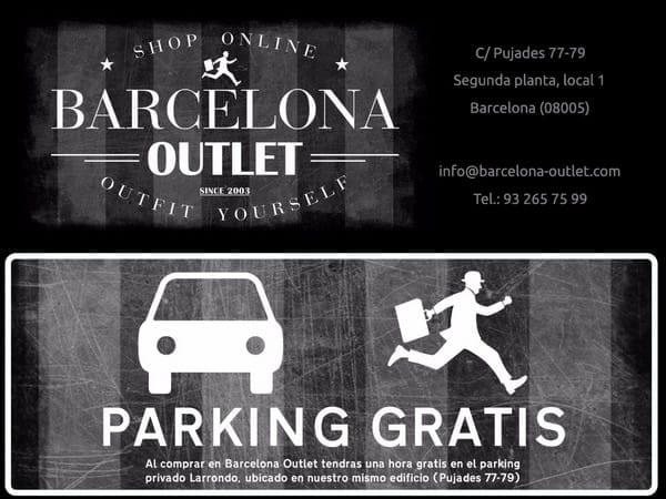 Barcelona Outlet - parking gratis - NOB 296 - Noviembre 2017