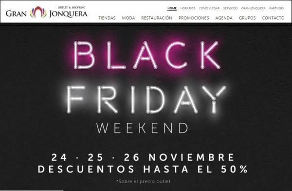 Gran Jonquera Outlet Shopping - Black Friday - Noviembre 2017