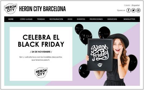 Heron City Barcelona - Especial Black Friday - Noviembre 2017