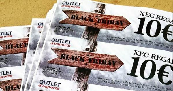 Outlet d'Esports Barcelona - Black Friday - Noviembre 2017
