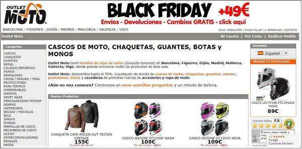Outlet Moto Barcelona - Black Friday - Noviembre 2017