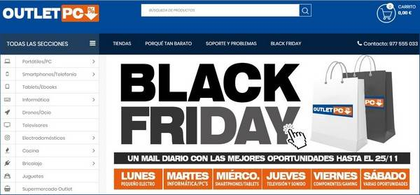 Outlet PC Barcelona - Black Friday - Noviembre 2017