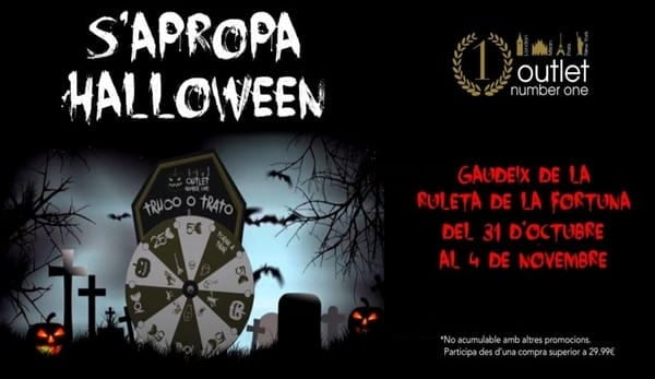Ruleta halloween Outlet Number One - NOB 296 - Noviembre 2017