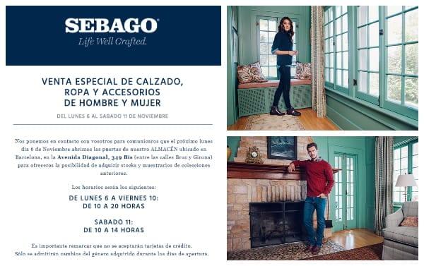 Venta especial outlet Sebago Barcelona - NOB 296 - Noviembre 2017