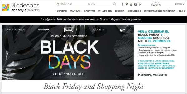 Viladecans The Style Outlets - Black Friday 2017