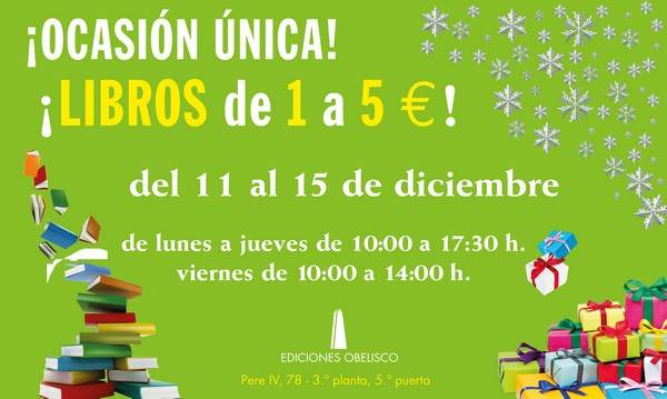 Ediciones Obelisco venta especial Poblenou - NOB 298 - Diciembre 2017