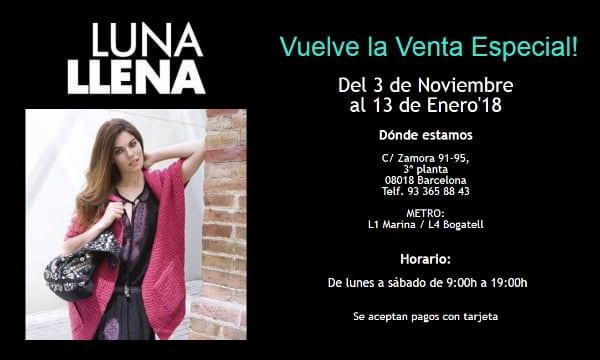 Venta Especial LUNA LLENA - NOB 298 - Noviembre 2017