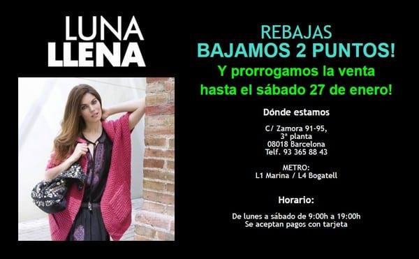 Venta especial stocks outlet Luna Llena - NOB 301- Enero 2018