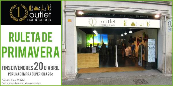 Outlet Number One Barcelona - NOB 307 - Abril 2018