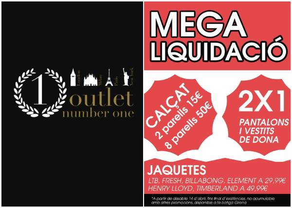 Outlet Number One Girona - NOB 307 - Abril 2018