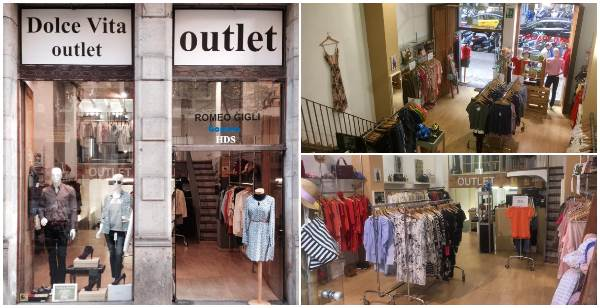 Fachada e interior Dolce Vita Outlet Barcelona - NOB 311 - Junio 2018
