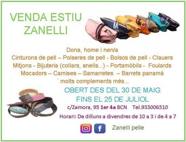 Venta especial Zanelli Pelle Barcelona - NOB 310 - Junio 2018