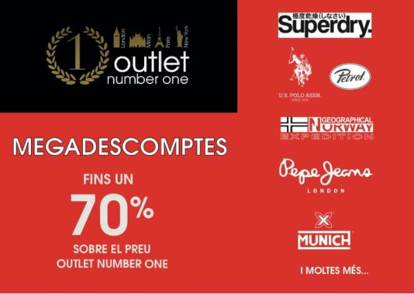 Megadescuentos Outlet Number One Barcelona - NOB 312 - Julio 2018