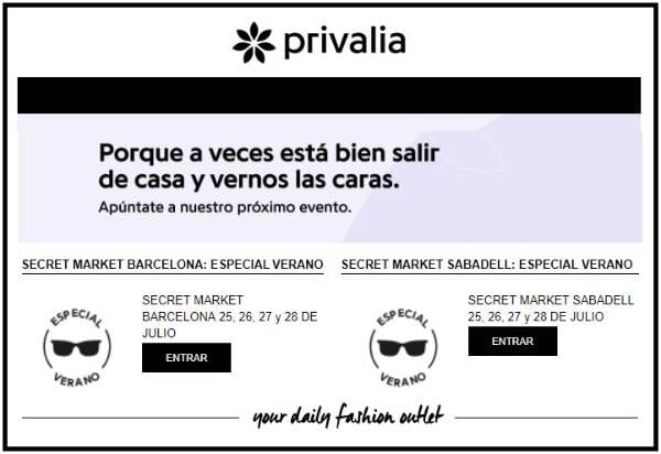 Secret Market Privalia - NOB 312 - Julio 2018