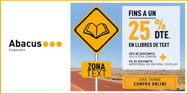 Libros escolares con descuento en Abacus - Noticias Outlet en Barcelona 314 - Septiembre 2018