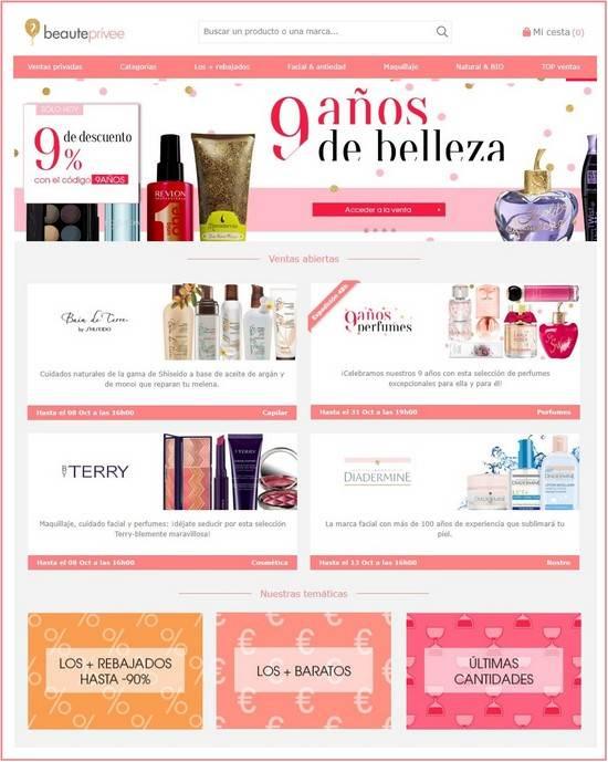 Beauteprivee outlet online perfumería cosmetica - NOB 315 - Octubre 2018