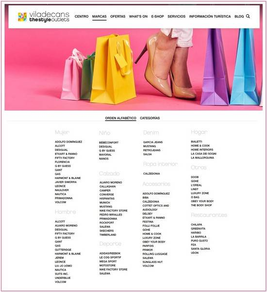 Marcas Viladecans The Style Outlets - NOB 315 - Octubre 2018