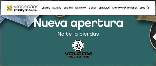 Volcom Outlet - Viladecans The Style Outlets - NOB 315 - Octubre 2018