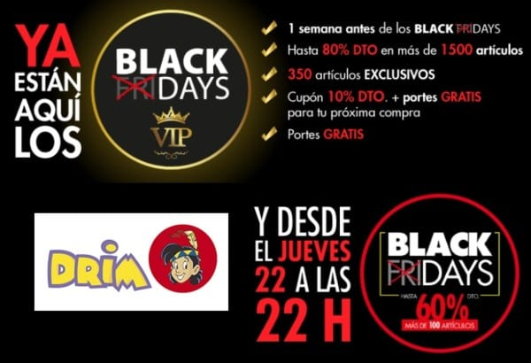 Black Drays Drim juguetes - Especial Black Friday 2018 Outlet Barcelona