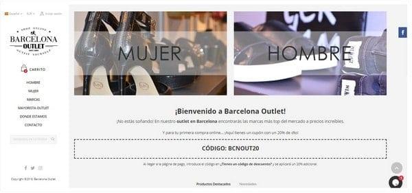 Cupón descuento tienda online Barcelona Outlet - NOB 320 - Diciembre 2018
