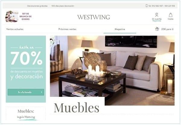 Westwing Outlet muebles y decoracion - NOB 318 - Noviembre 2018