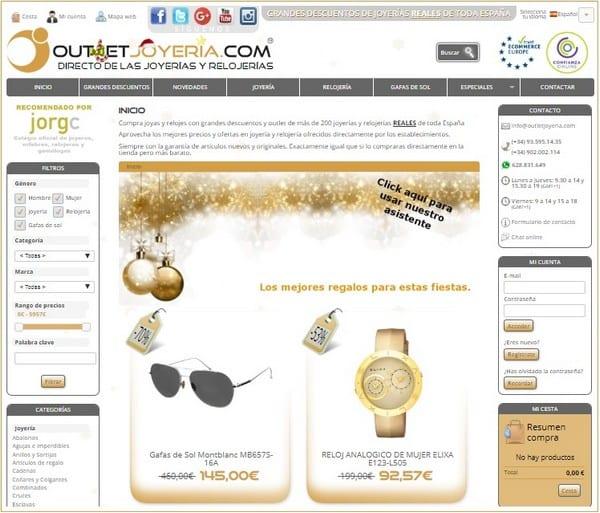 Outletjoyeria.com Outlet joyería relojería gafas de sol - NOB 320 - Diciembre 2018